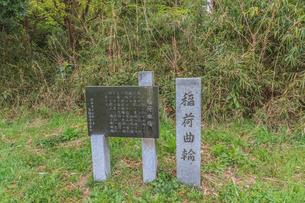 春の箕輪城の稲荷曲輪の風景の写真素材 [FYI01263989]