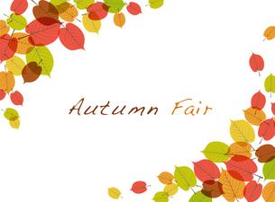 秋の紅葉背景のイラスト素材 [FYI01264020]