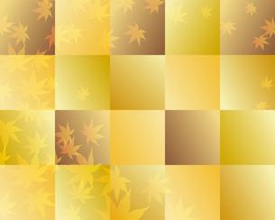 紅葉の金色背景のイラスト素材 [FYI01264024]