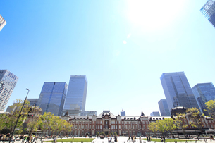 東京駅の写真素材 [FYI01264090]
