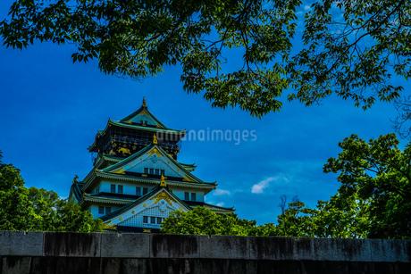 大阪城と青空の写真素材 [FYI01264111]