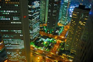 新宿夜景の写真素材 [FYI01264186]