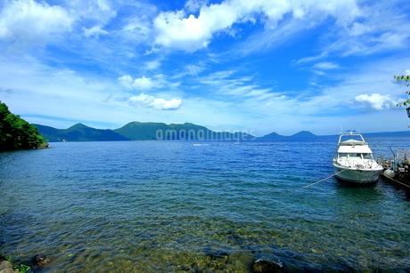 支笏湖の風景の写真素材 [FYI01264438]