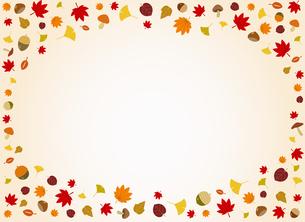 秋の紅葉と木ノ実 背景素材のイラスト素材 [FYI01264442]