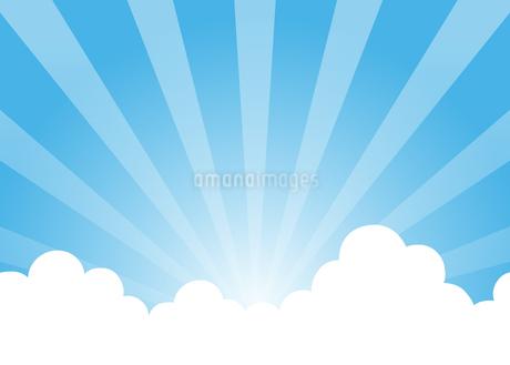 青空と雲と放射線のイラスト素材 [FYI01264638]