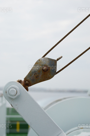 巻き取りを調節する金属の部品の写真素材 [FYI01264757]