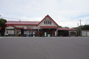 JR釧網本線 川湯温泉駅の写真素材 [FYI01264782]