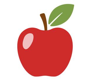 りんごのアイコンのイラスト素材 [FYI01265027]