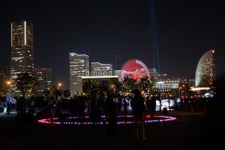 横浜の夜景とイルミネーションの写真素材 [FYI01265093]