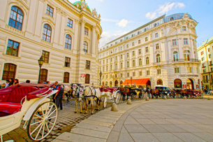 オーストリア・ウィーンの馬車の写真素材 [FYI01265099]