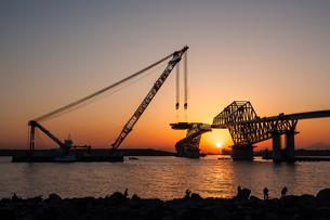 東京ゲートブリッジ(建設中)の写真素材 [FYI01265214]