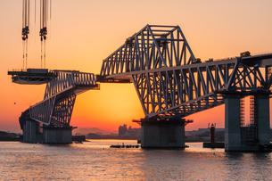 東京ゲートブリッジ(建設中)の写真素材 [FYI01265217]