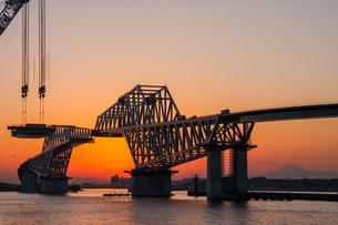 東京ゲートブリッジ(建設中)の写真素材 [FYI01265219]