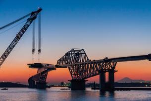 東京ゲートブリッジ(建設中)の写真素材 [FYI01265226]