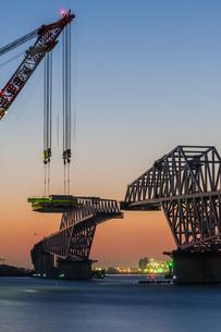 東京ゲートブリッジ(建設中)の写真素材 [FYI01265229]