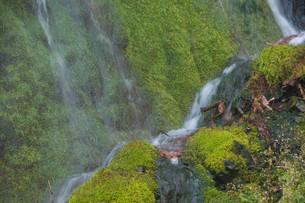 岩肌を流れる小さな滝の写真素材 [FYI01265600]