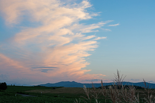 夕焼雲と青空の写真素材 [FYI01265604]
