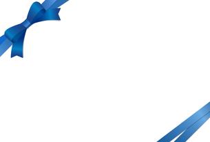 リボン付きカードテンプレートのイラスト素材 [FYI01265627]