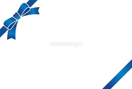 リボン付きカードテンプレートのイラスト素材 [FYI01265628]