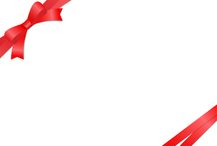 リボン付きカードテンプレートのイラスト素材 [FYI01265631]