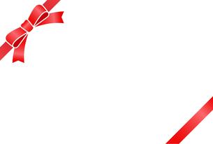 リボン付きカードテンプレートのイラスト素材 [FYI01265632]