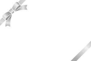 リボン付きカードテンプレートのイラスト素材 [FYI01265634]