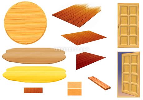 ドア・フローリング・木の素材集のイラスト素材 [FYI01265649]