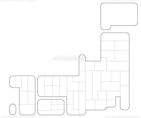 かわいい日本地図のイラスト素材 [FYI01265653]