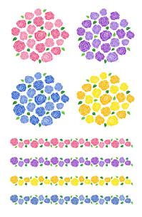 バラの装飾素材のイラスト素材 [FYI01265659]