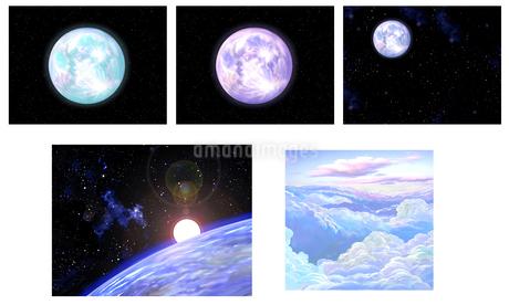 月 宇宙 雲のイラスト素材 [FYI01265672]