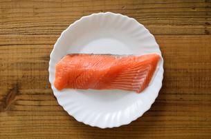 銀鮭 切身の写真素材 [FYI01265675]