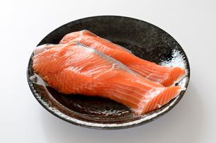銀鮭 切身の写真素材 [FYI01265680]