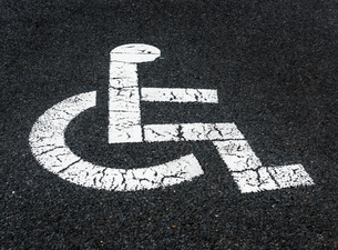 車椅子マークの写真素材 [FYI01265722]