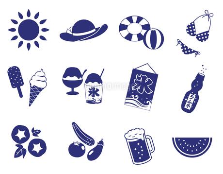 夏のアイコンセット のイラスト素材 [FYI01265832]