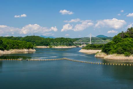 三春ダムと春日大橋の写真素材 [FYI01265916]