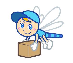 とんぼ 宅急便キャラクターのイラスト素材 [FYI01265942]