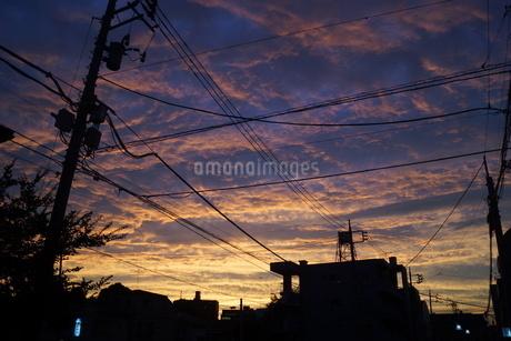 横浜の夕暮れの空の写真素材 [FYI01266073]