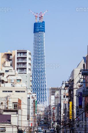 東京スカイツリー(建設中)の写真素材 [FYI01266212]