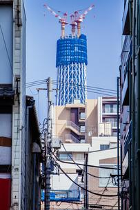 東京スカイツリー(建設中)の写真素材 [FYI01266214]