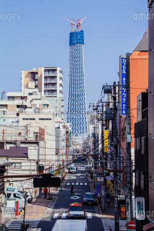 東京スカイツリー(建設中)の写真素材 [FYI01266216]
