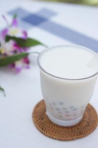 カラータピオカのココナッツミルクの写真素材 [FYI01266336]