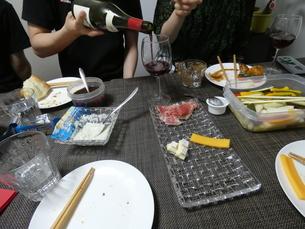 チーズ・生ハム・ワインの写真素材 [FYI01266434]