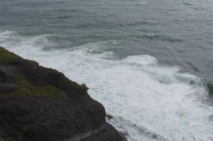 霧多布の風景 アイヌ岬(岸壁)の写真素材 [FYI01266520]