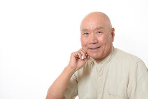 笑顔のシニア男性の写真素材 [FYI01266620]