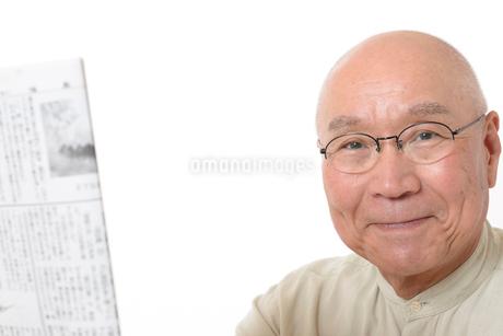 笑顔のシニア男性の写真素材 [FYI01266626]