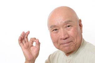 笑顔のシニア男性の写真素材 [FYI01266627]