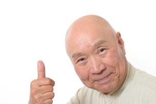 笑顔のシニア男性の写真素材 [FYI01266630]