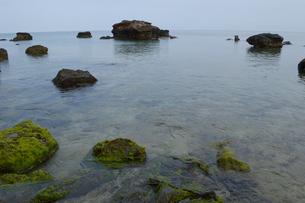 岩が点在している南国の海岸の写真素材 [FYI01266666]