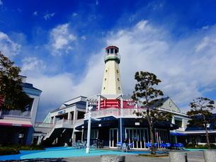 青空と灯台②の写真素材 [FYI01266864]