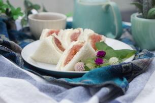 無花果のサンドイッチの写真素材 [FYI01266959]